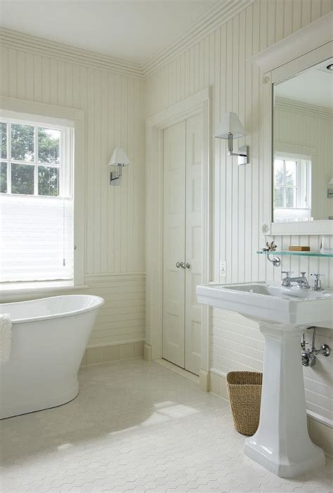 Beadboard Around Bathtub  Beadboard Bathroom Wall