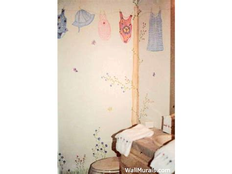 examples  wall murals hand painted  bathrooms