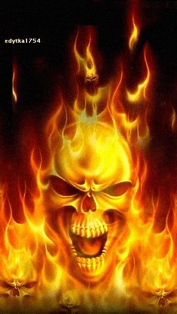 Animated Skull Wallpaper - animated flaming skull skull wallpaper
