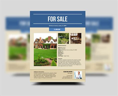 property pamphlet 20 stylish house for sale flyer templates designs