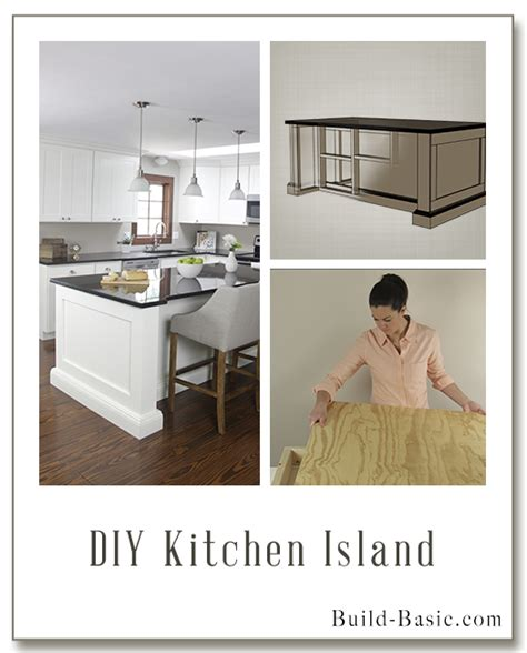 easy kitchen island plans projects build basic 7010