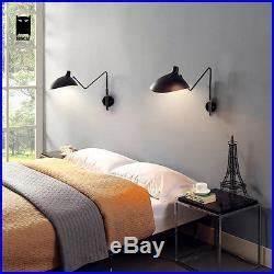 Lampe Chevet Murale : 1 bras serge mouille noir applique murale luminaire design ~ Premium-room.com Idées de Décoration