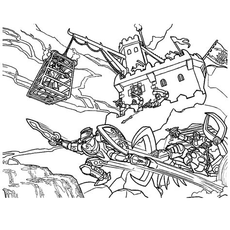 Kleurplaat Ridder Lego leuk voor lego ridders