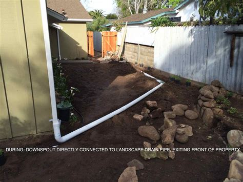 drainage ideas home design awesome french drain installation with downspout and gutters also backyard