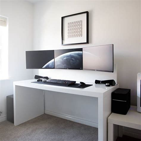 Ikea Computer Desk Setup by 25 Best Ideas About Desk Setup On Imac Desk