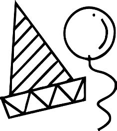 birthday hat clipart black and white hat clip clipart best