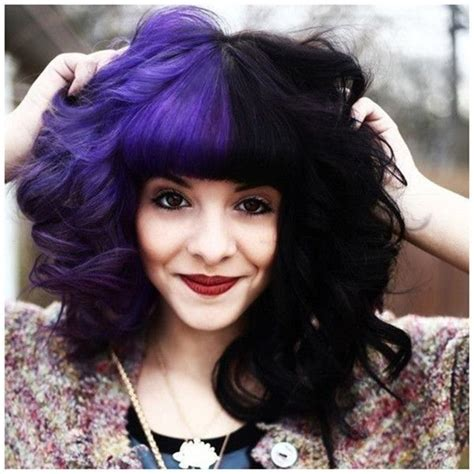 Best 25 Half Colored Hair Ideas On Pinterest Cotton