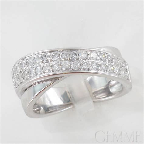 bague jonc or blanc diamant taille moderne