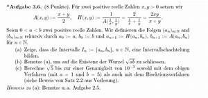 Taylorpolynom Berechnen : intervallschachtelung zeigen f r rekursiv definierte folge mathelounge ~ Themetempest.com Abrechnung