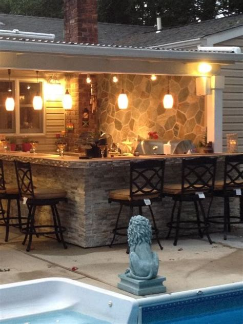 outdoor kitchen bar patio cover our of
