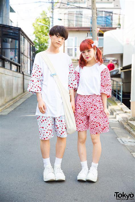 Supercute Harajuku Couple in Matching Remake Fashion u0026 Tokyo Bopper