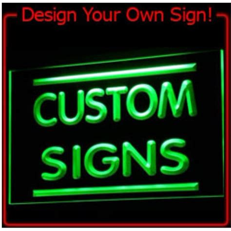 onoff switch  colors  sizes custom neon signs design