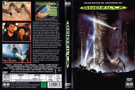 godzilla 1998 cover deutsche covers in german video dvd covers auf deutsch