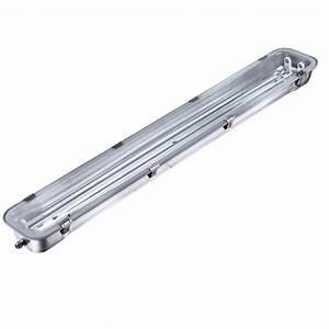 Tube Led 120 Cm : r glette inox double pour tubes led 120cm ~ Dallasstarsshop.com Idées de Décoration