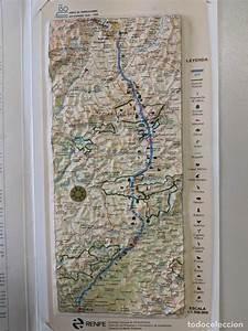 1997 Renfe Ferrocarriles Mapa Plastico En Relie