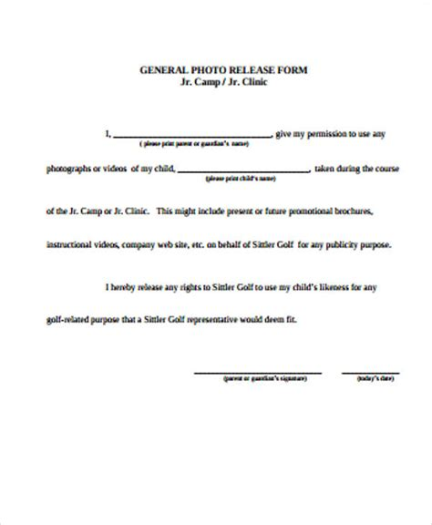 general release of information form template 8 general release form sles sle templates