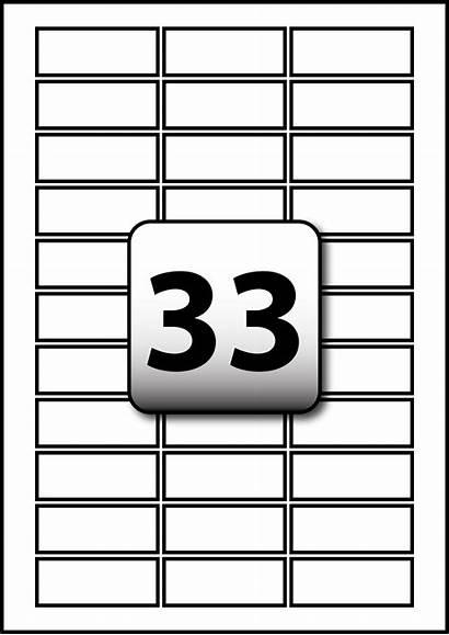 Labels 33 Per Sheet Mm Rectangle A4