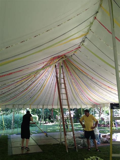 diy tent decoration for your wedding reception