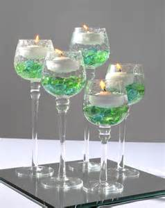 candle wedding favor green and white colorcandle centerpiece trendy mods