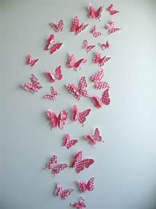 D butterfly wall decor quot cherry set felt