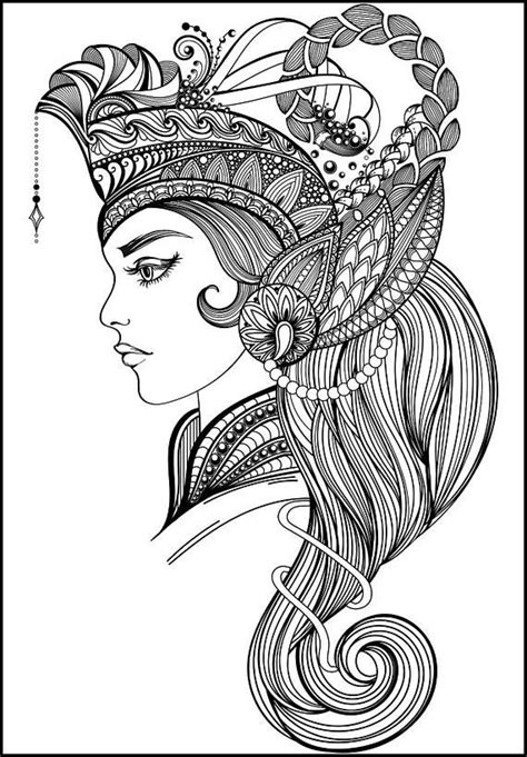 beautiful adult coloring page coloring book art
