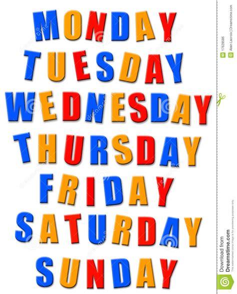 Week Days Motivation Quotes Cartoon Vector