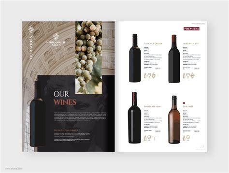 wine catalog brochure template alfaera coreldraw