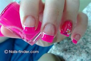 pink nail tips & design on one | nails-finder.com ...