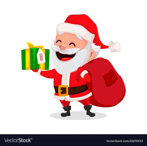 merry christmas funny santa claus royalty free vector image