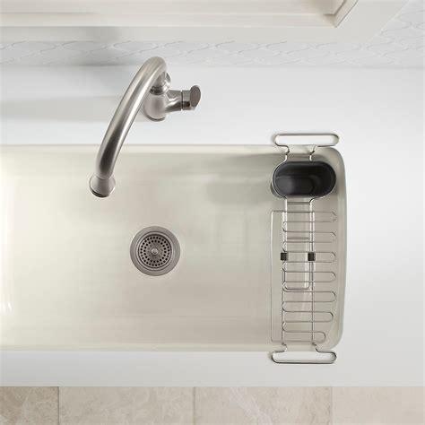 kohler chrome kitchen sink utility rack  container store