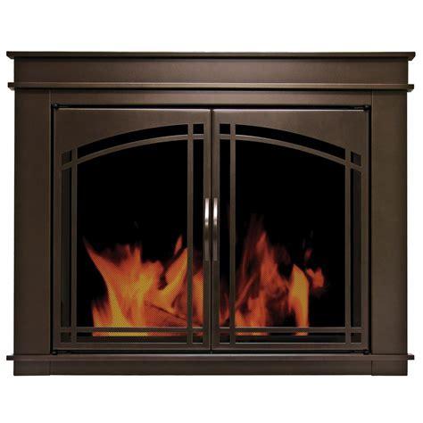 pleasant hearth fenwick large glass fireplace doors fn