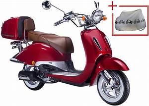 Motorroller 50 Ccm : gt union motorroller strada 50 ccm rot braun otto ~ Kayakingforconservation.com Haus und Dekorationen