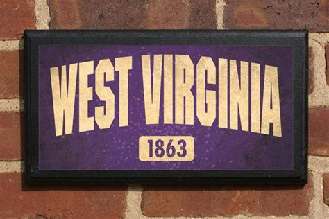 The State Of West Virginia Customizable Vintage Style Wall