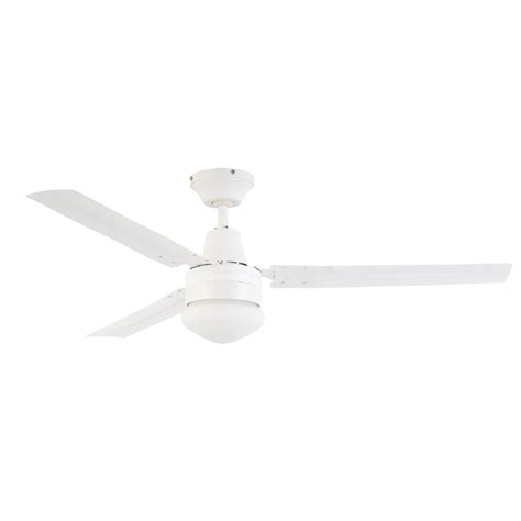 white 3 blade ceiling fan arlec 120cm white 3 blade ceiling fan with oyster light