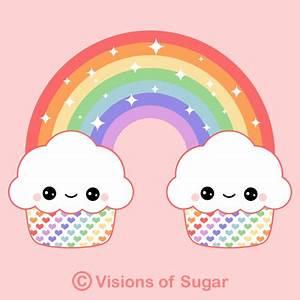 Cute Cartoon Cupcakes With Faces Animated | Kawaii ...