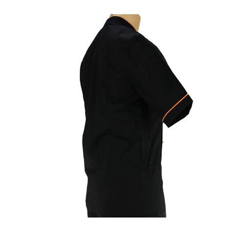 veste de cuisine homme vêtement de cuisine noir avec un liseré orange lisavet