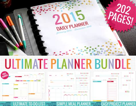 free daily calendar 2015 6 best images of printable project planner pages 2015