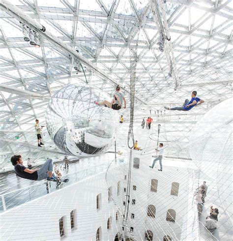 floating installation in orbit gigantic floating installation by tom 225 s saraceno design milk