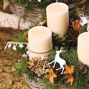 Weihnachtsgestecke Selber Machen : adventsgestecke aus dem wald selber basteln landidee magazin ~ Whattoseeinmadrid.com Haus und Dekorationen