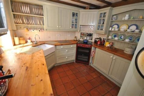 quarry tile kitchen charming practical country kitchen with wood counters 1700