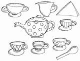 Tea Coloring Pages Printable Alice Wonderland Boston Teapot Drawing Clipart Books Birthday Preschool Sheet Adults Clip Trend Princess Popular Teacups sketch template