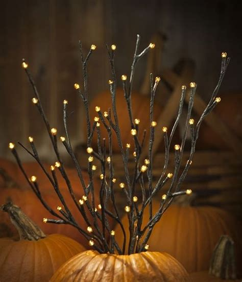 lit branches 26 cozy fall décor ideas with lights shelterness