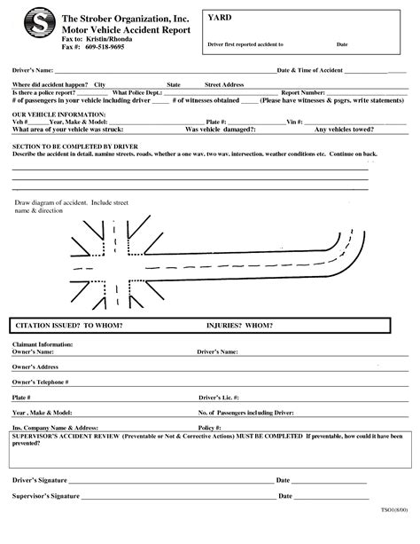 truck driver accident report form template best photos of car accident report form car accident