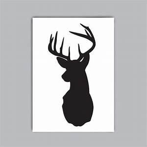 Items similar to Deer Head Silhouette Printable on Etsy
