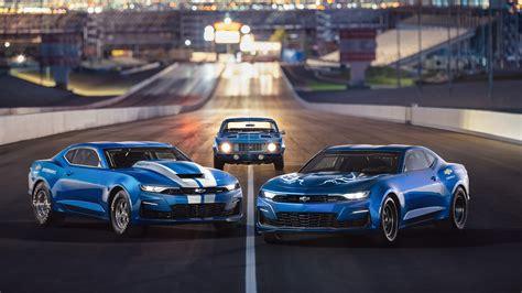 wallpaper chevrolet camaro blue cars  uhd