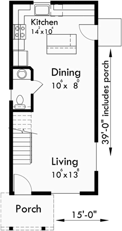 narrow lot house plans  bedroom house plans  story house plan