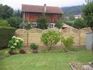 Cloture Jardin Bois : panneau bois jardin ~ Premium-room.com Idées de Décoration
