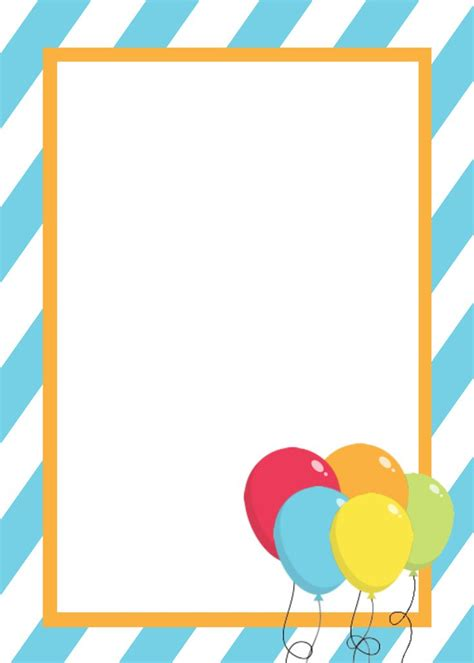 printable birthday invitation templates birthday