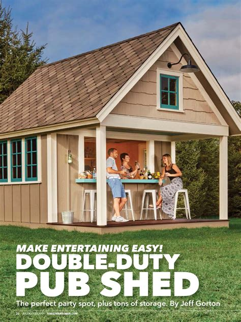 Handyman Magazine Shed by Quot Duty Pub Shed Quot From Family Handyman July August