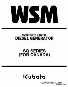 Kubota Sq Canada Diesel Generators Wsm Pdf 9y011
